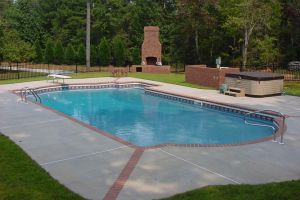 Vinyl Pool with Outdoor Living Additions
