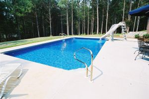 Rectangle Vinyl Pool with Slide