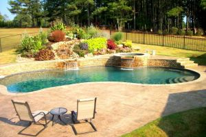 Gunite Pool with Custom Stone Decking