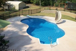 Freeform Pool with slide