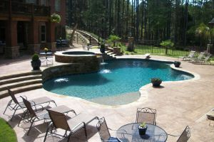 Gunite Pool with Beach Entry