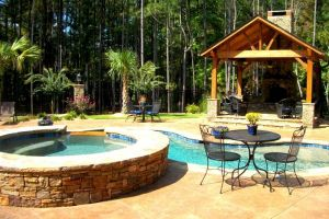 Gunite Pool with Outdoor Living Additions