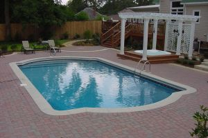 Rectangle Vinyl Liner Pool w/BullFrog Spa