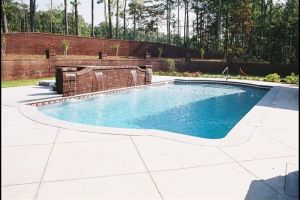 Rectangle Vinyl Liner Pool w/ Water Features