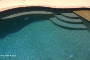 Gunite Pool With Beach Entry & Spill Over Spa