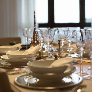 Make your table linens the center of attention. Fine Dining
