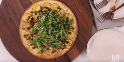 Fast & Fresh Weeknight Dinner: Potato, Bacon, and Arugula Flatbread