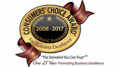 Best roofing company wins 2017 Consumers Choice Award for Business Excellence!