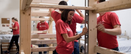 Bunk Bed Buildout: Helping the Community One Bed at a Time