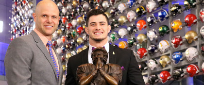 Drue Tranquill of Notre Dame selected as 2018 Wuerffel Trophy recipient