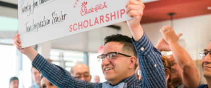 Where does Chick-fil-A donate money?