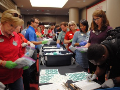 New Record! Volunteers Pack 850 Clean Birthing Kits in 2 Hours