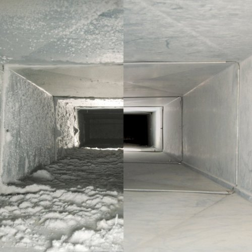 How does an air duct cleaning work image