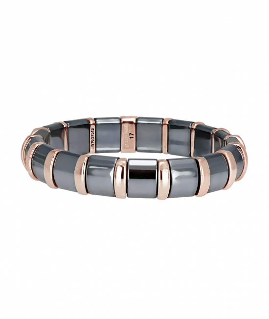 Hematite Bracelet 17 Rose Bars