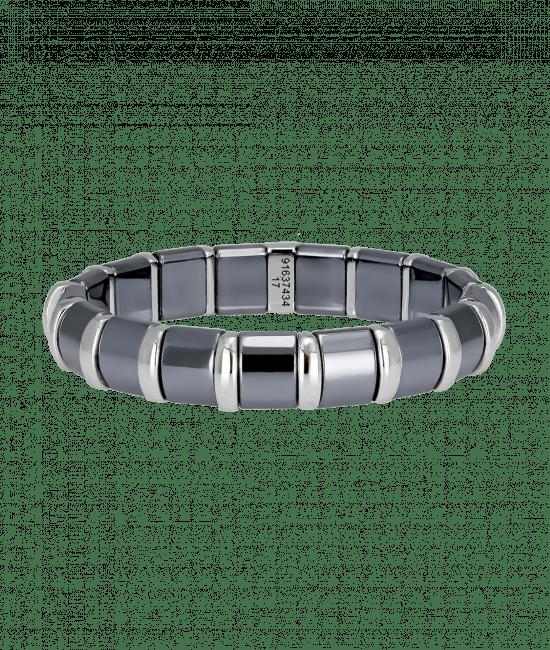 Hematite Bracelet 17 Stainless Steel Bars