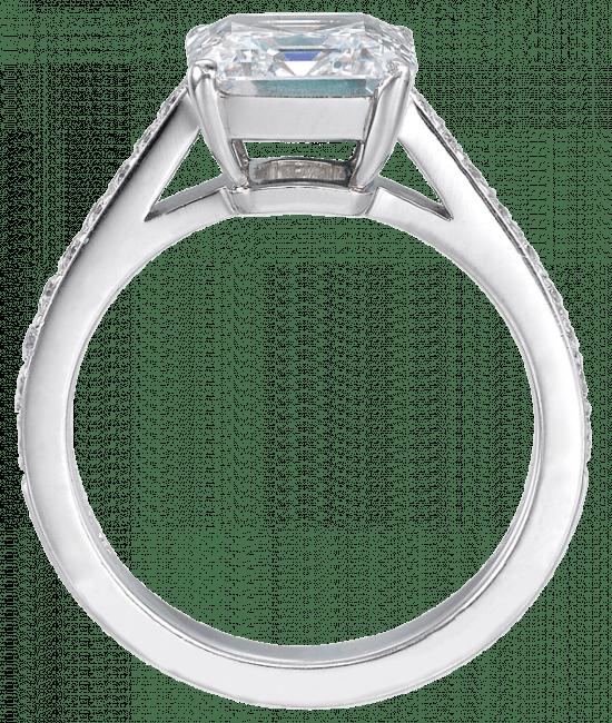 Square Emerald-Cut Diamond Solitaire