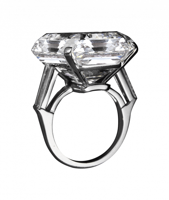 Exceptional Emerald Cut Diamond Ring