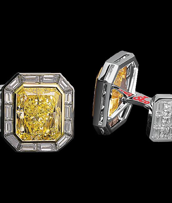 Fancy Yellow Diamond Masterpieces Cufflinks