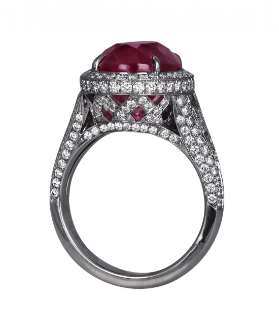 Natural Oval Shape Ruby Ring
