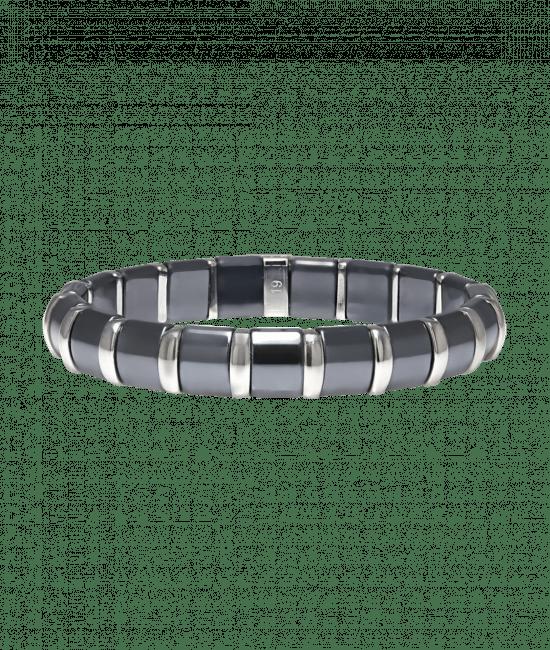 Hematite Bracelet 19 Stainless Steel Bars