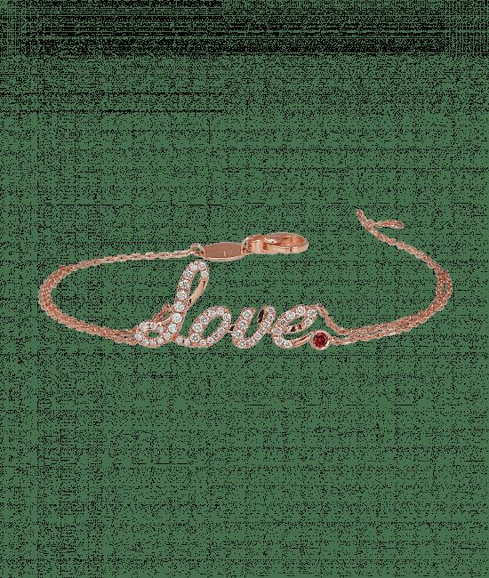 Rose Gold Love Bracelet Ruby
