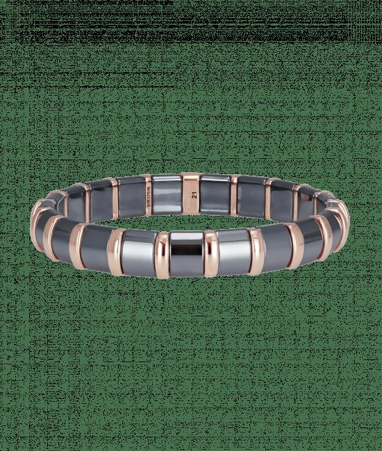 Hematite Bracelet 21 Rose Bars