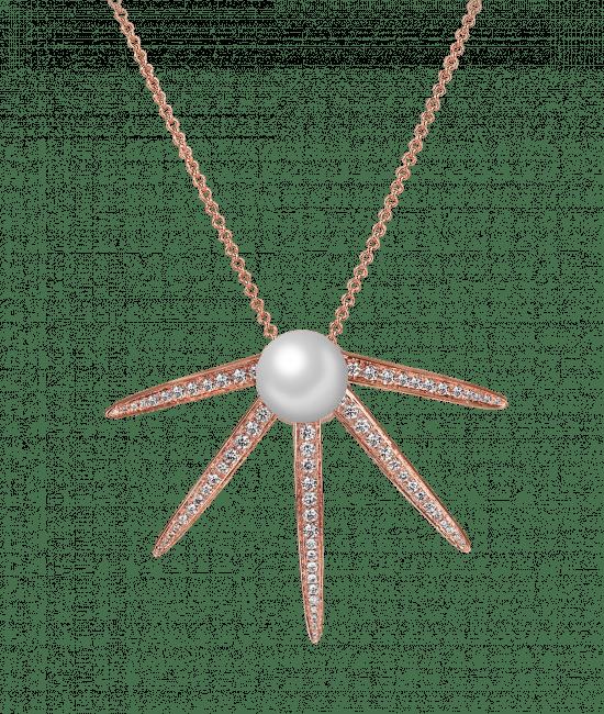 Star Pearl Diamond Pendant