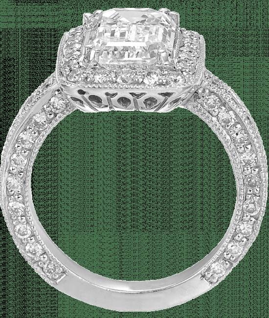 Edwardian Emerald-Cut Diamond Solitaire