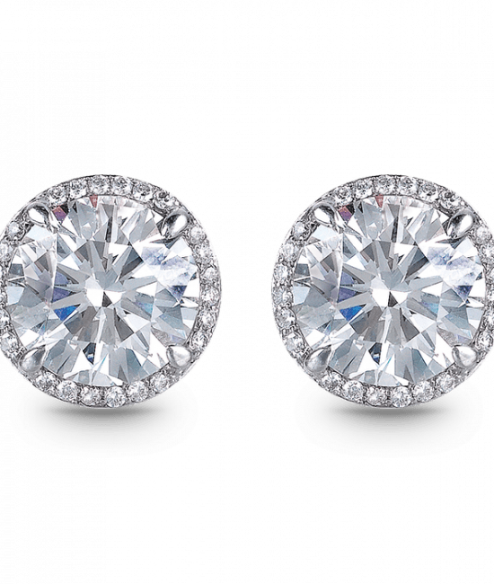 Round Solitaire Earrings