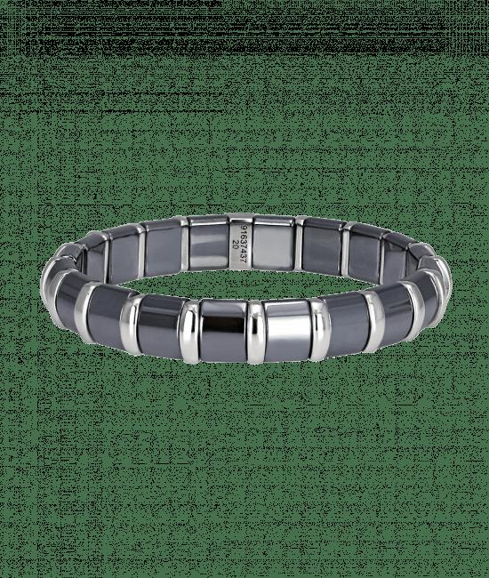 Hematite Bracelet 20 Stainless Steel Bars