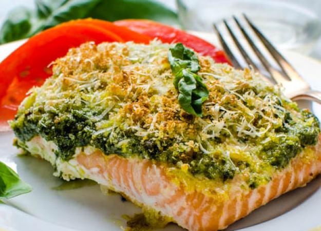 Recipe: Pesto Seafood and Veggies in Foil