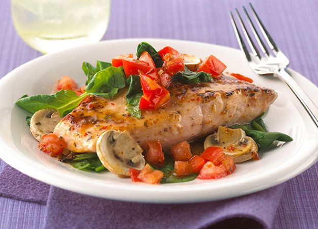 Recipe: Orange Roughy with Tomatoes & Spinach