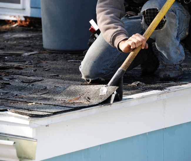<strong>Roof shingles</strong> that are no longer lying flat? image