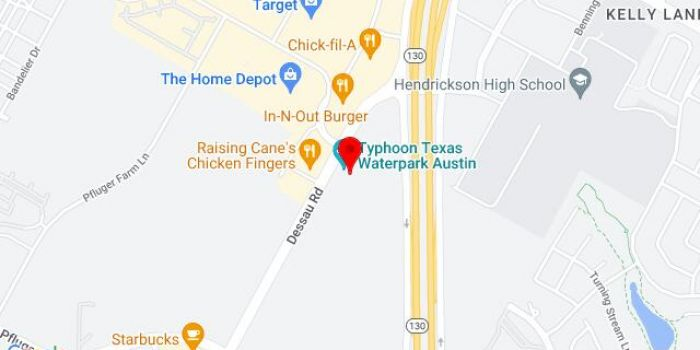Map of Typhoon Texas Austin