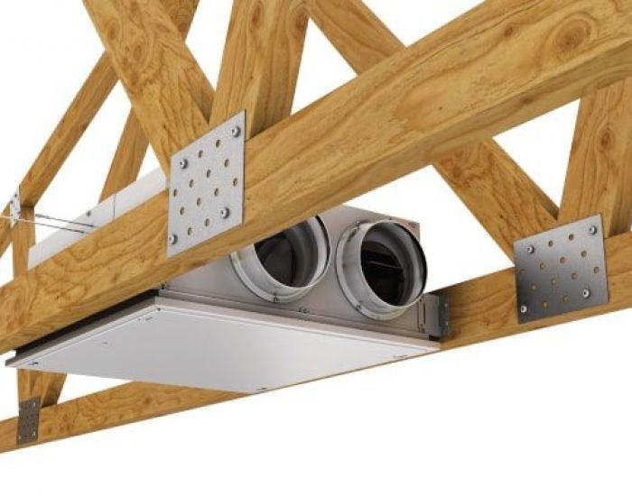 An ERV provides balanced fresh air ventilation.