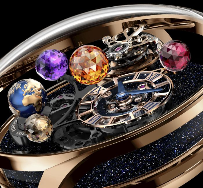 Astronomia Solar Planets Jewelry Rotating Gemstone Planet Display