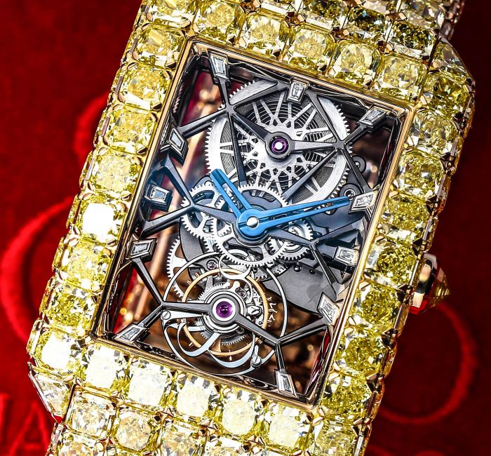 The Millionaire Yellow Diamonds One-Minute Tourbillon