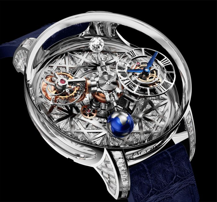 Astronomia Meteorite Triangle Diamonds Case & Crystal