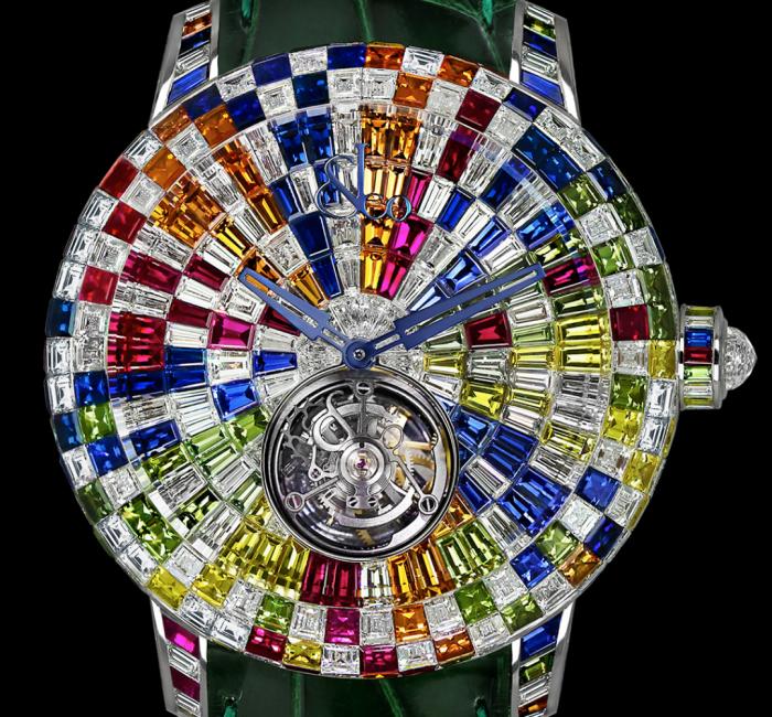 a colorful clock