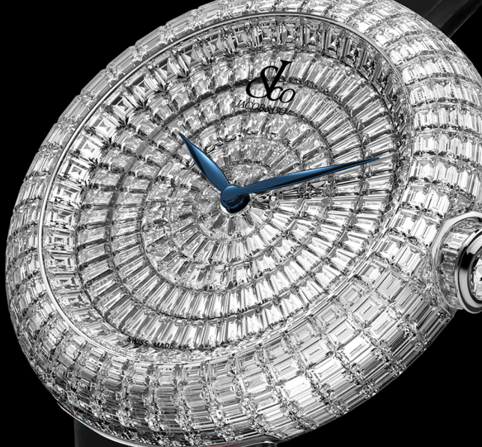 a close up of a clock