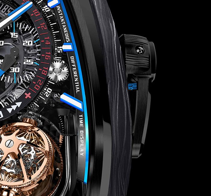 Twin Turbo Furious Bugatti Monopusher Chronograph With Pit Board Feature
