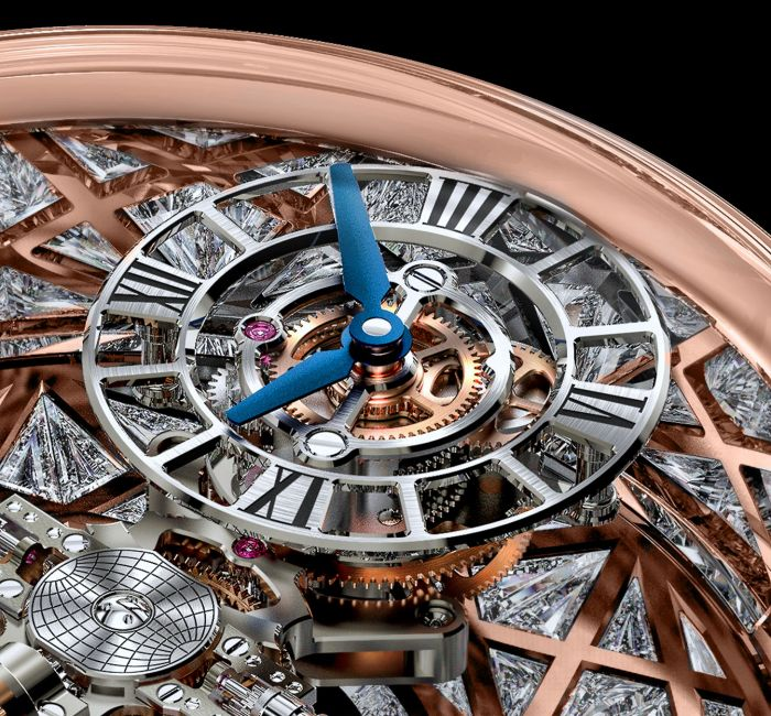 Astronomia Meteorite Triangle Diamonds Dial & Hands