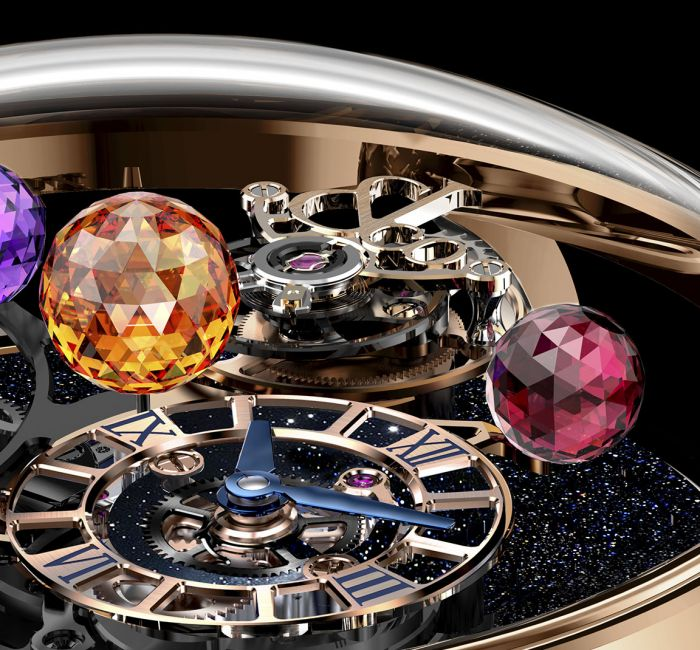 Astronomia Solar Planets Jewelry Flying Tourbillon