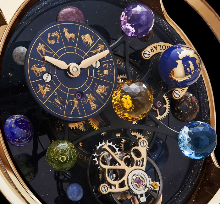 Astronomia Solar Planets Zodiac Rotating Gemstone Planet Display