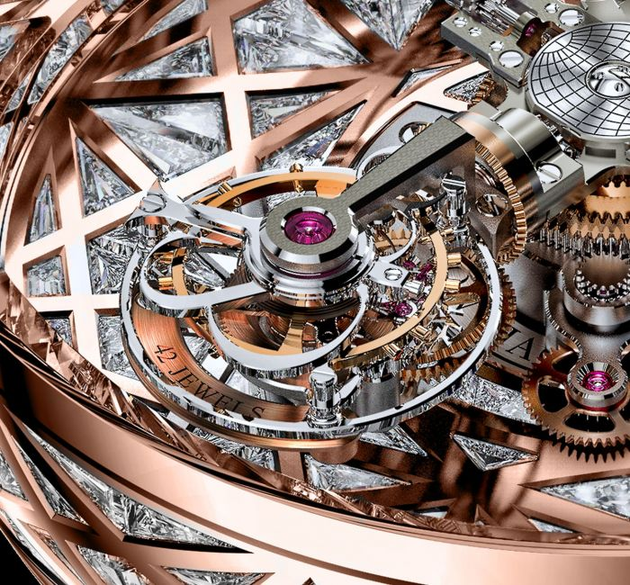 Astronomia Meteorite Triangle Diamonds Triple-Axis Tourbillon