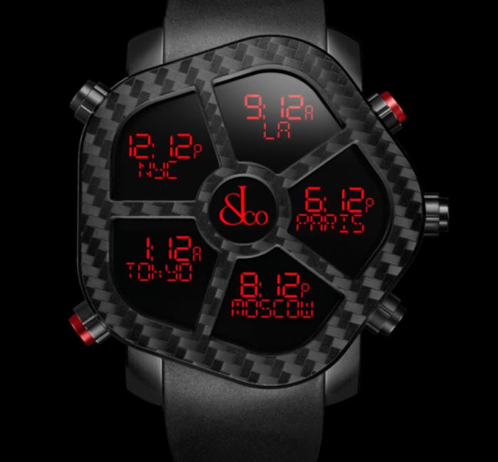 a clock sitting in the dark