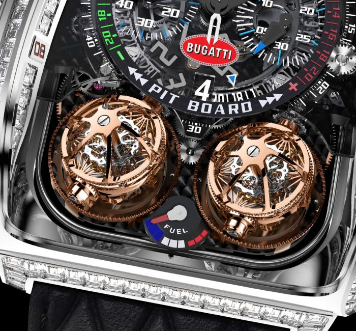 Twin Turbo Furious Bugatti Double Triple-Axis Tourbillon