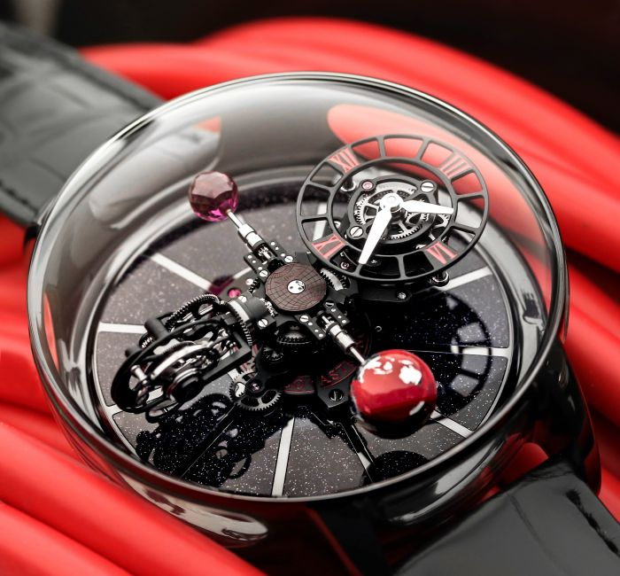 Astronomia Ceramic Black with Red Movement