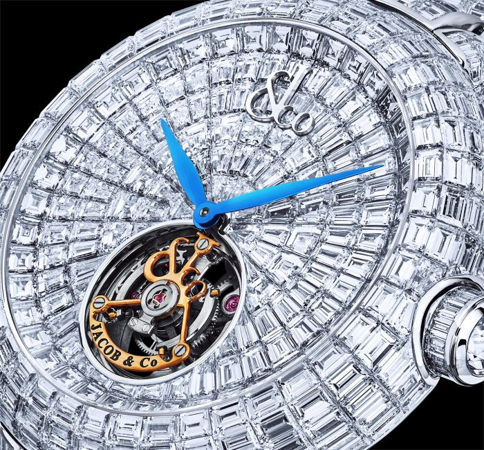 a close up of a watch