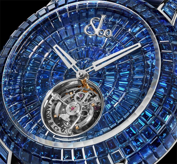 a watch on a metal object